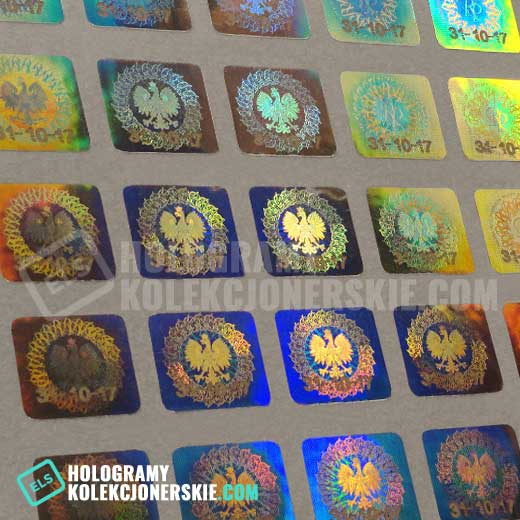 oryginalne kolekcjoenrskie hologramy z numerem seryjnym