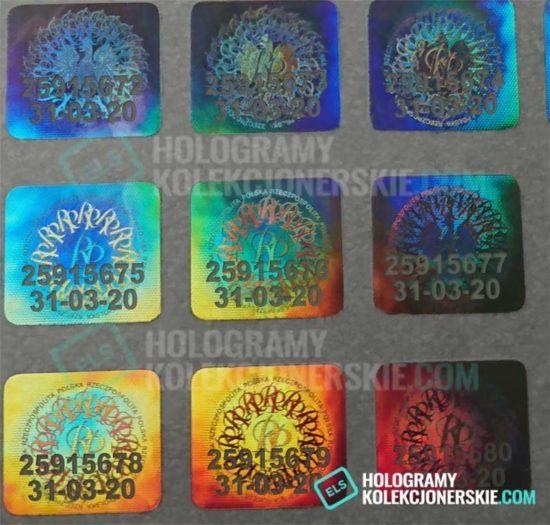 Numer seryjny na hologramie kolekcjonerskim