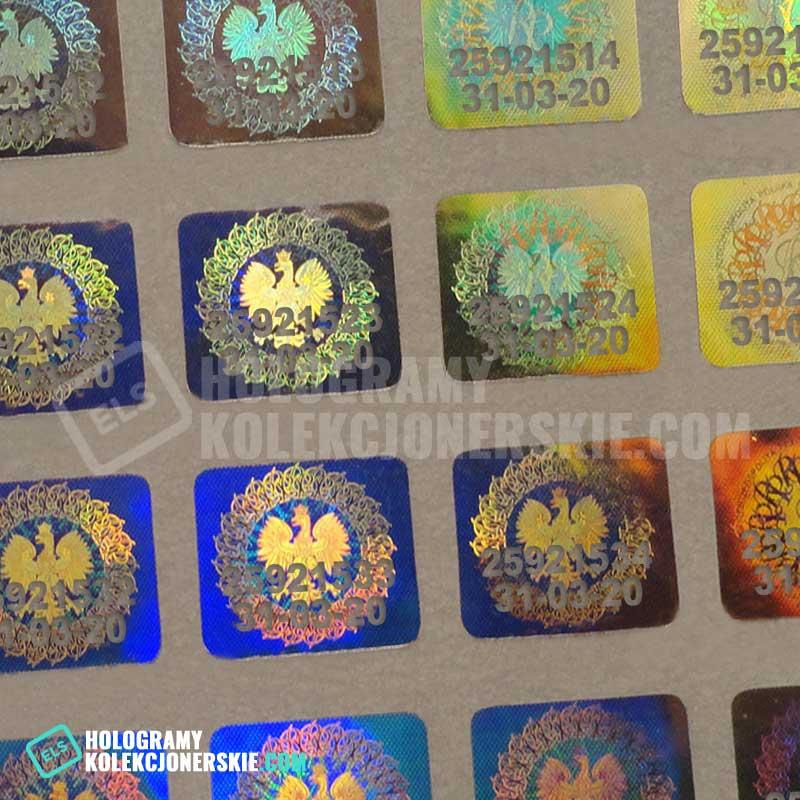 numery seryjne na hologramie  kolekcjonerskim